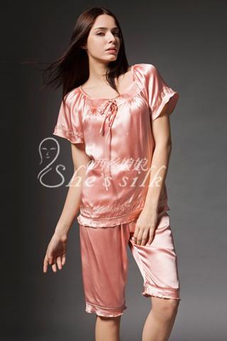 luxury silk pajamas women