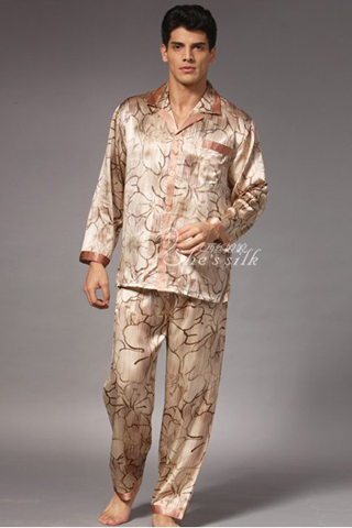 silk pajamas for men